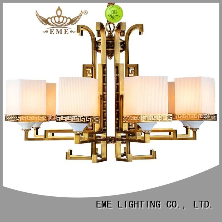 EME LIGHTING Brand EME european dinging cylinder antique brass chandelier