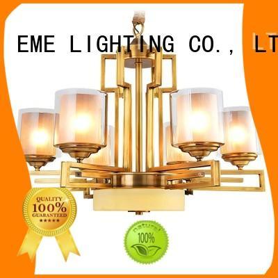 restaurant lobby concise antique brass chandelier hotel EME LIGHTING