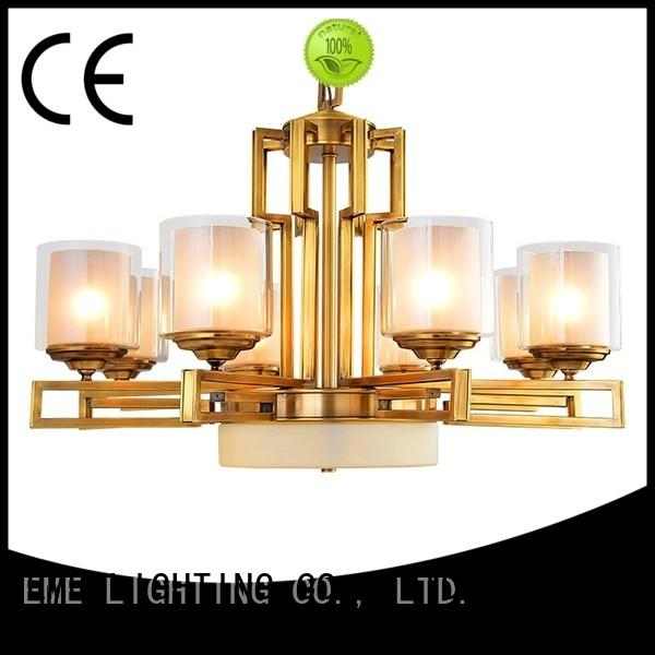 Custom moroccan chinese antique brass chandelier EME LIGHTING cylinder