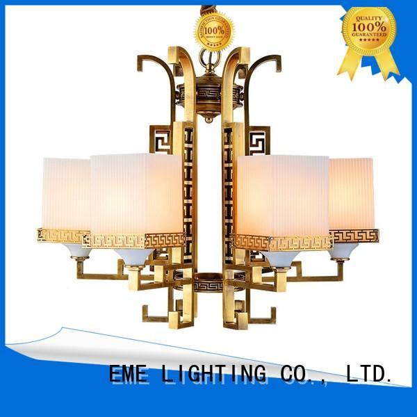 restaurant dinging dining room cylinder antique brass chandelier EME LIGHTING