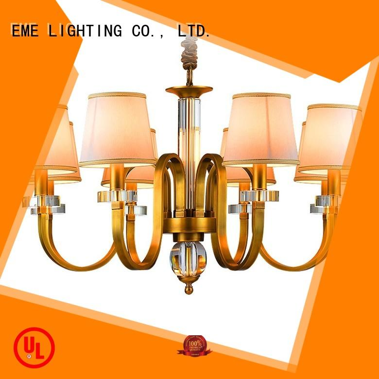 Hot glass antique brass chandelier country unique EME LIGHTING Brand