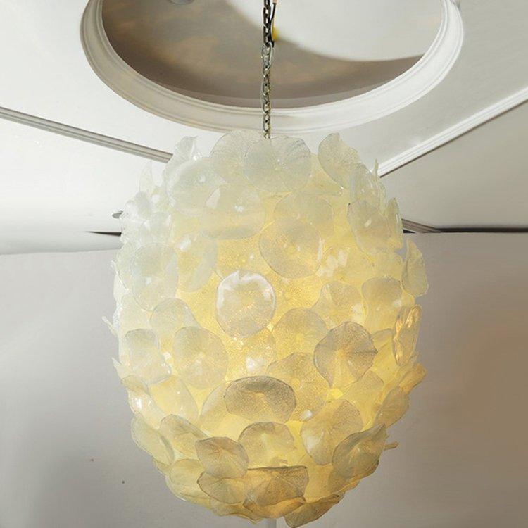 EME LIGHTING Pure White Hanging Pendant Light (MD336-pure white) Ocean Series image58