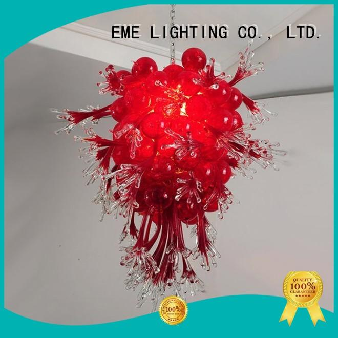EME LIGHTING colored coral restaurant lighting design unique for hotel