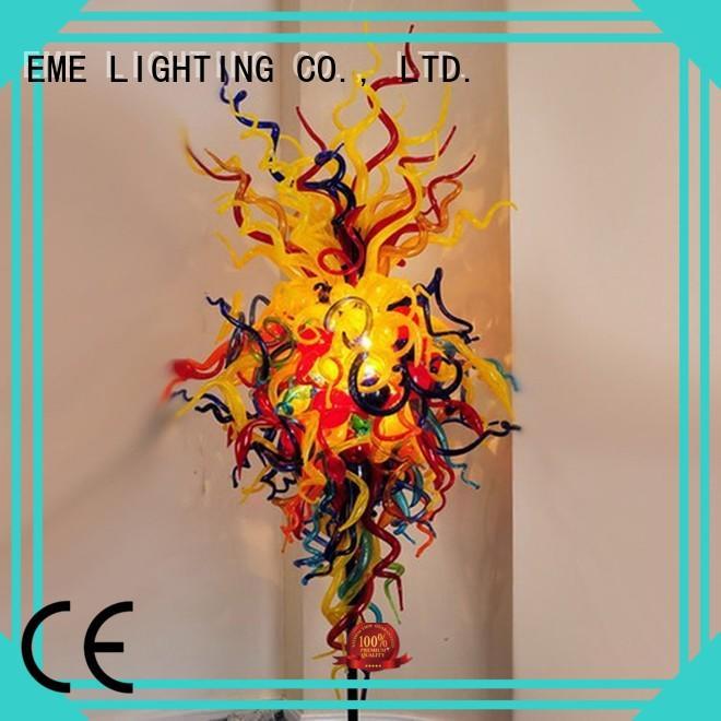 EME LIGHTING Brand lampred modern blowmolded lighting for restaurants and bars