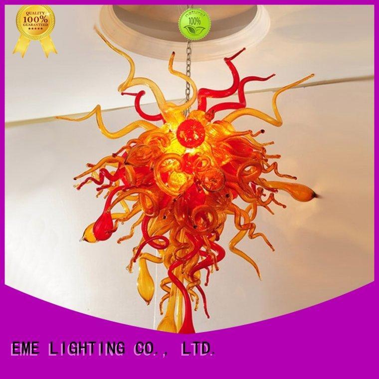 Hot light copper and glass pendant light white lampred EME LIGHTING Brand