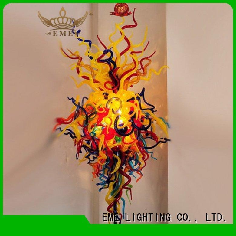 md336pure leaf pendant copper and glass pendant light EME LIGHTING Brand company