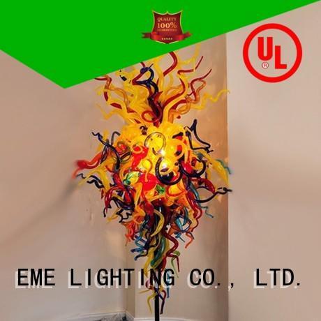 red restaurant lighting design hanging for hotel EME LIGHTING