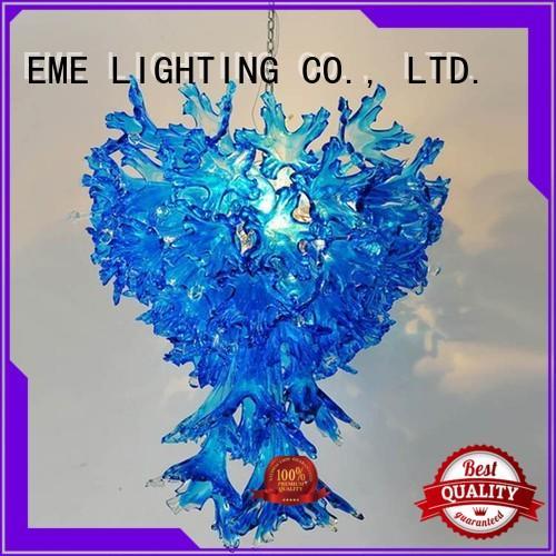 lighting for restaurants and bars colored starfish EME LIGHTING Brand copper and glass pendant light