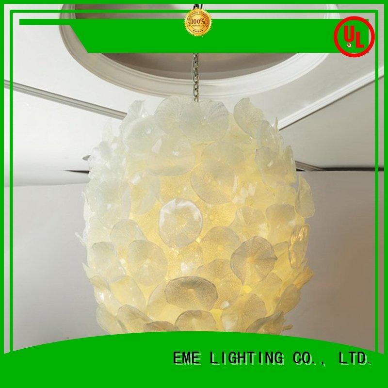 Custom hotel copper and glass pendant light unique EME LIGHTING