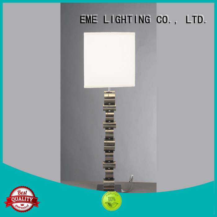 EME LIGHTING Brand room contemporary chrome and glass table lamps concise