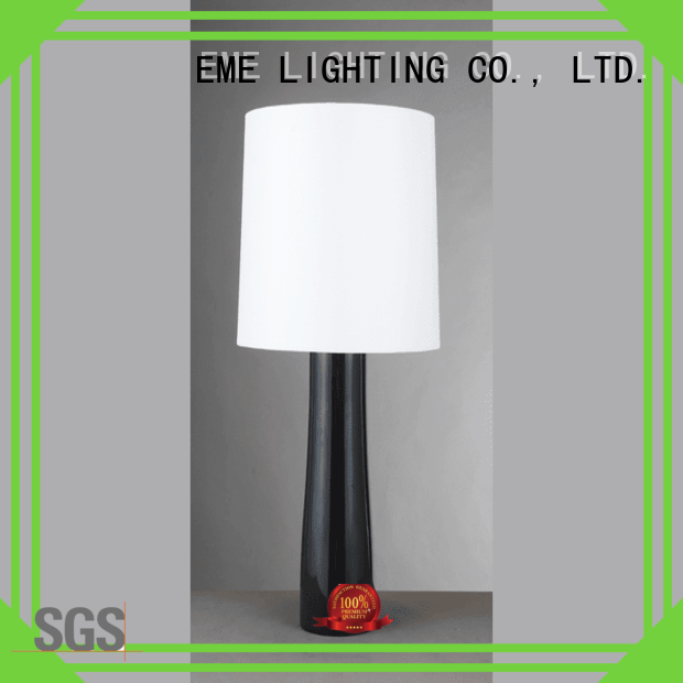 EME LIGHTING Brand room contemporary chrome and glass table lamps wood supplier
