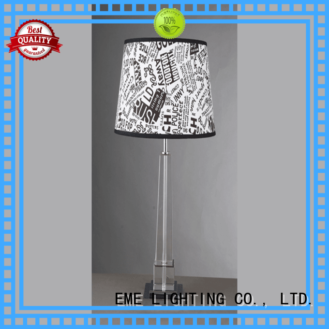 contemporary chrome and glass table lamps factory price for bedroom
