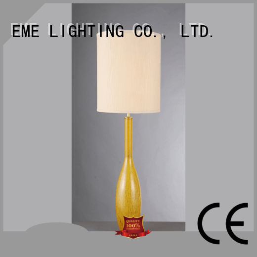 glass western EME LIGHTING Brand chrome and glass table lamps factory