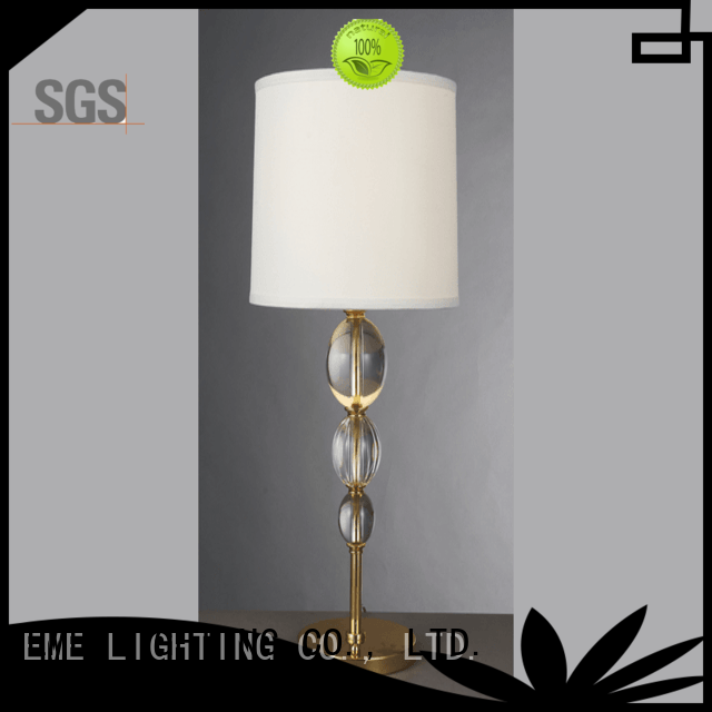 EME LIGHTING unique design glass table lamps for living room copper material for study