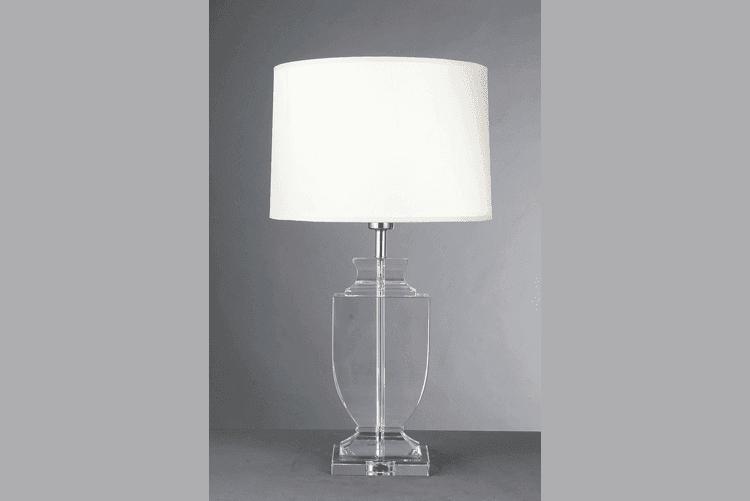 White Glass Table Lamp (EMT-050)