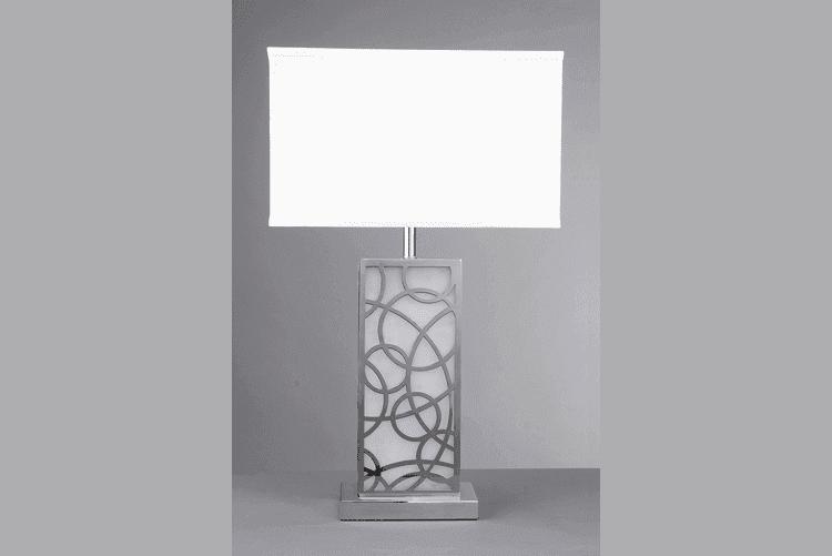 Fancy White Table Lamp (EMT-052)