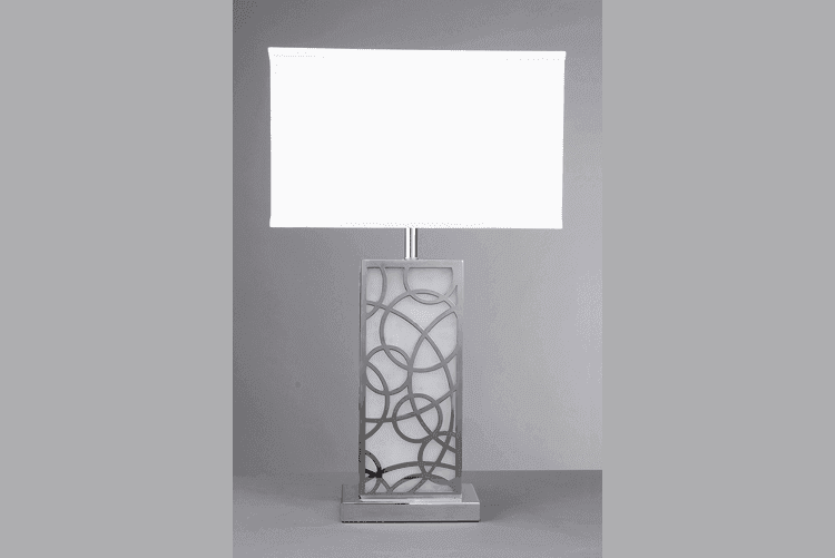 Fancy White Table Lamp (EMT-052)