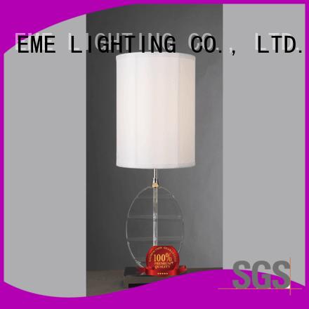 table chrome and glass table lamps modern EME LIGHTING company