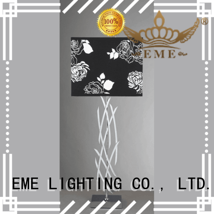 EME LIGHTING decorative colored table lamp flower pattern for bedroom