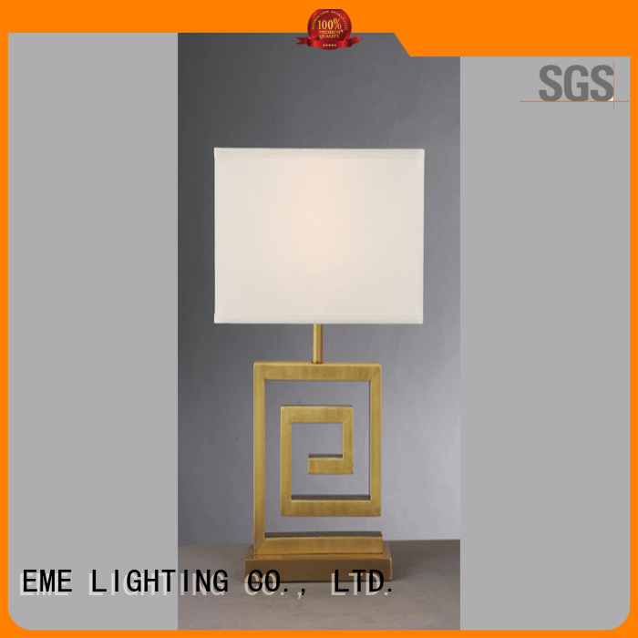 EME LIGHTING contemporary glass table lamps for bedroom brass material for study