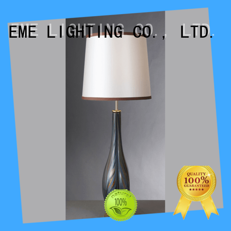 black colored table lamp gold traditional for restaurant
