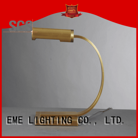 EME LIGHTING Brand american brass custom chrome and glass table lamps