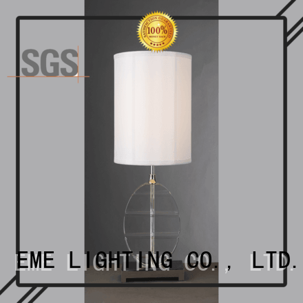 contemporary glass table lamps for living room European style brass material for restaurant