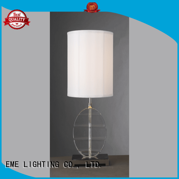 chrome and glass table lamps restaurant western table lamps EME LIGHTING Brand