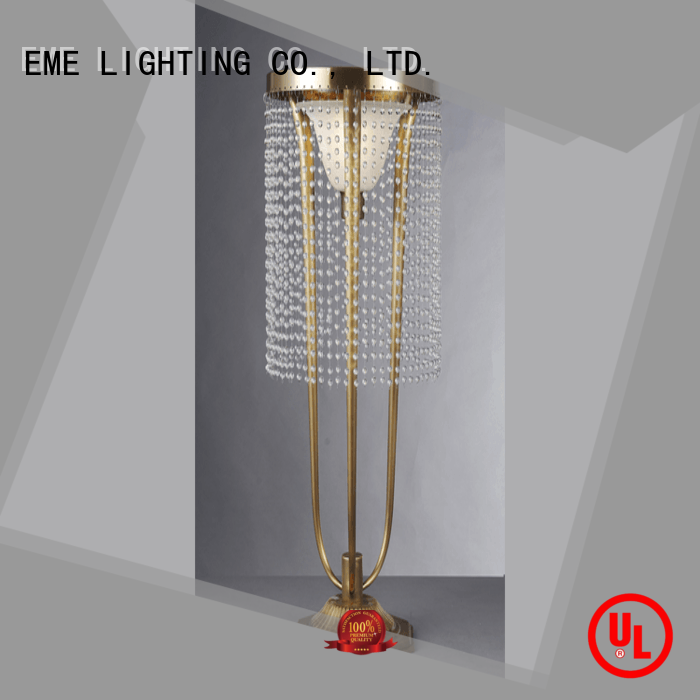 EME LIGHTING Brand glass wood oriental table lamps led factory