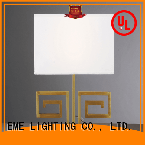 chrome and glass table lamps restaurant style EME LIGHTING Brand western table lamps