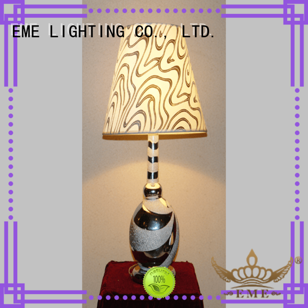 EME LIGHTING white colored table lamp classic for bedroom