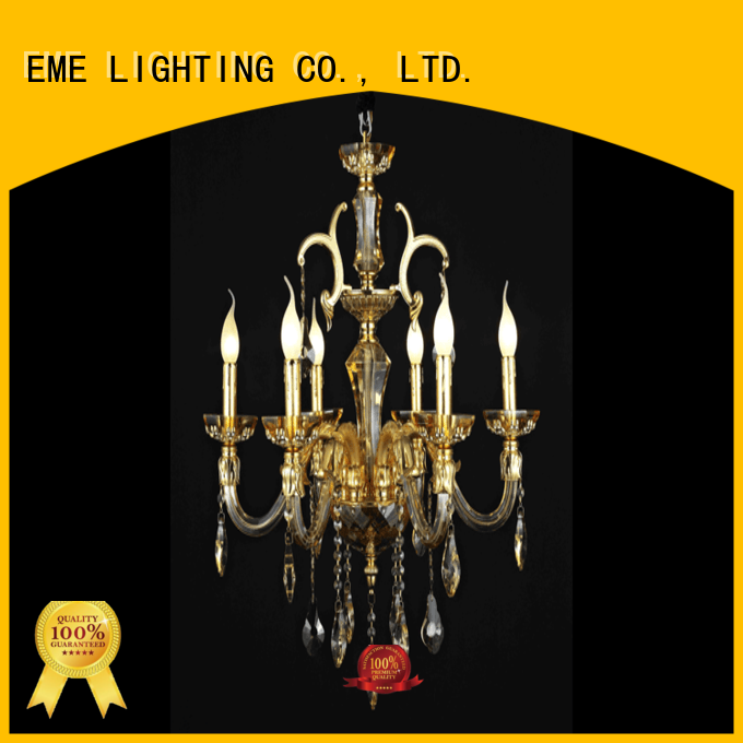 customized metal candle chandelier latest design for dining room
