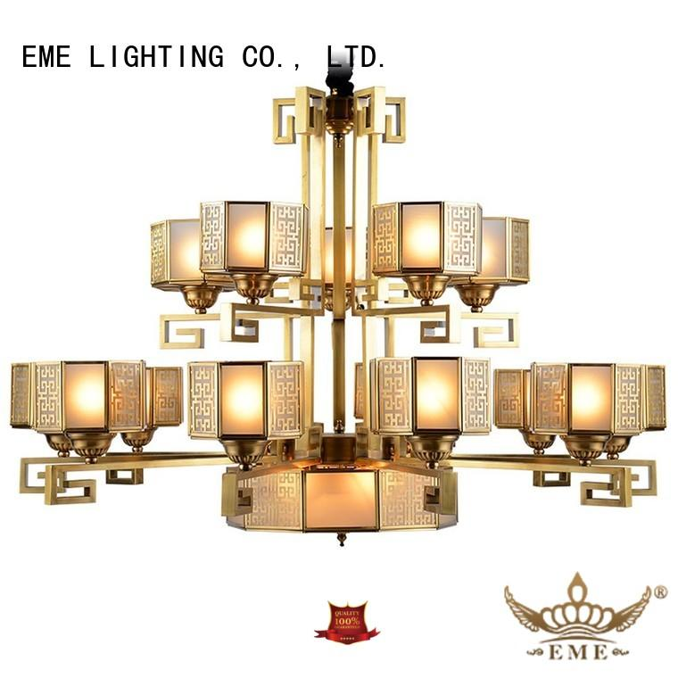 high-end antique chandeliers brass residential EME LIGHTING