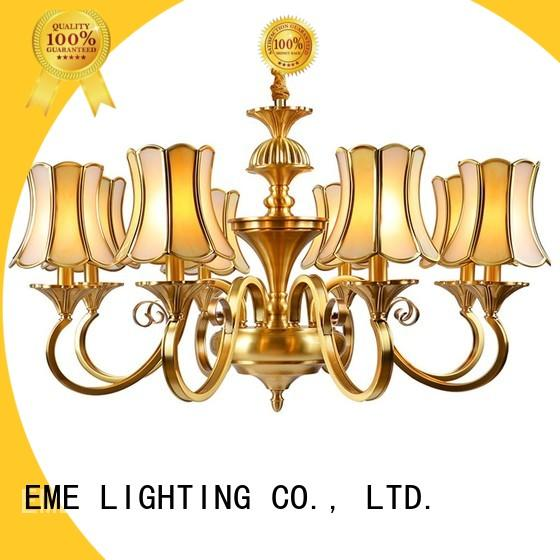 EME LIGHTING luxury 3 light brass chandelier European