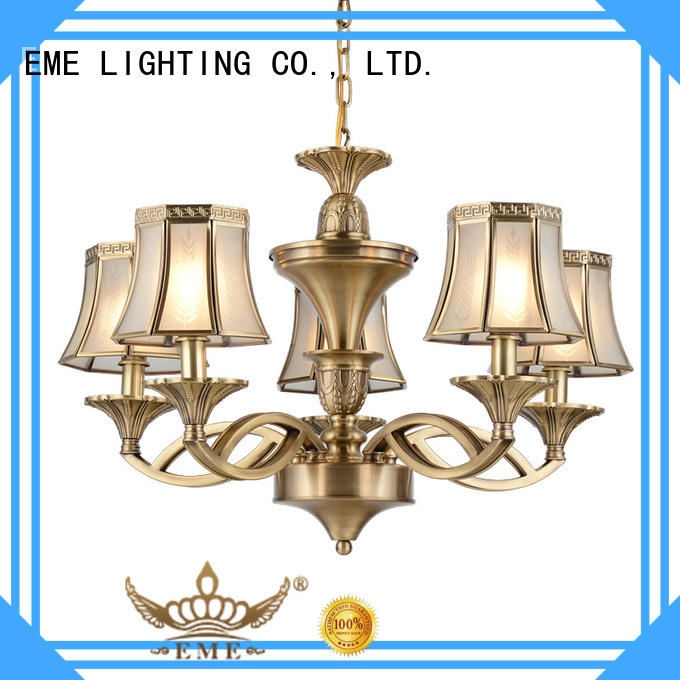 EME LIGHTING high-end antique brass chandelier traditional
