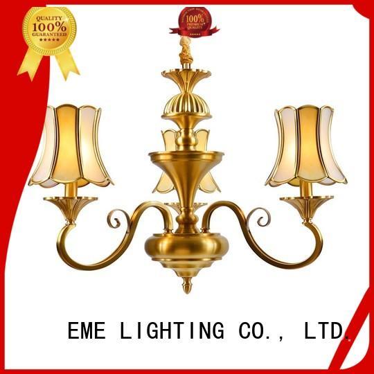 EME LIGHTING glass hanging modern brass chandelier traditional for dining room