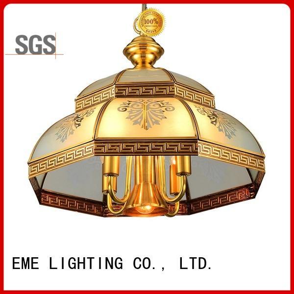 EME LIGHTING luxury vintage brass chandelier unique for dining room
