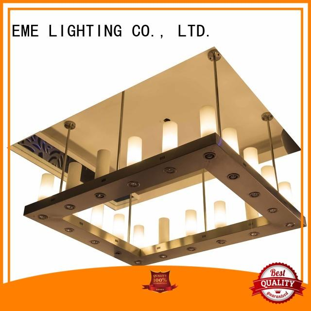 EME LIGHTING acrylic crystal drop chandelier latest design for lobby