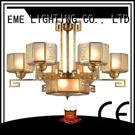 EME LIGHTING antique antique brass 5 light chandelier copper for home