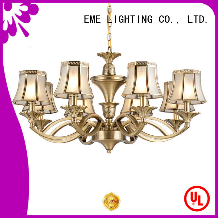 modern gold brass chandeliers traditional for dining room EME LIGHTING