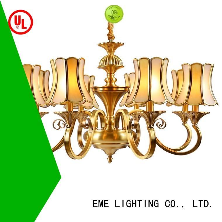 EME LIGHTING contemporary 3 light brass chandelier copper for home
