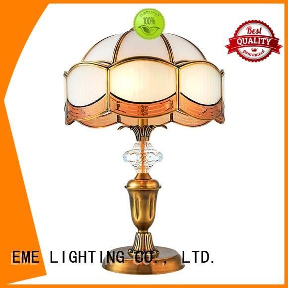EME LIGHTING retro glass table lamps for living room brass material for study