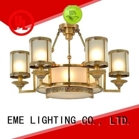 EME LIGHTING glass hanging antique copper pendant light traditional for dining room