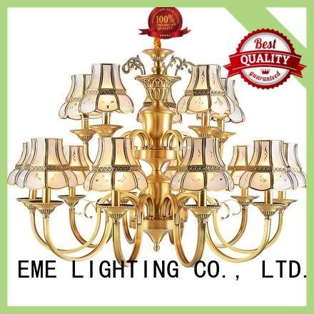 EME LIGHTING antique modern brass chandelier residential
