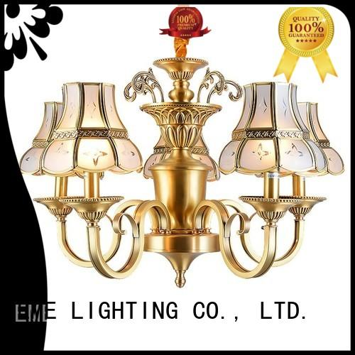 EME LIGHTING modern 3 light brass chandelier american style for big lobby