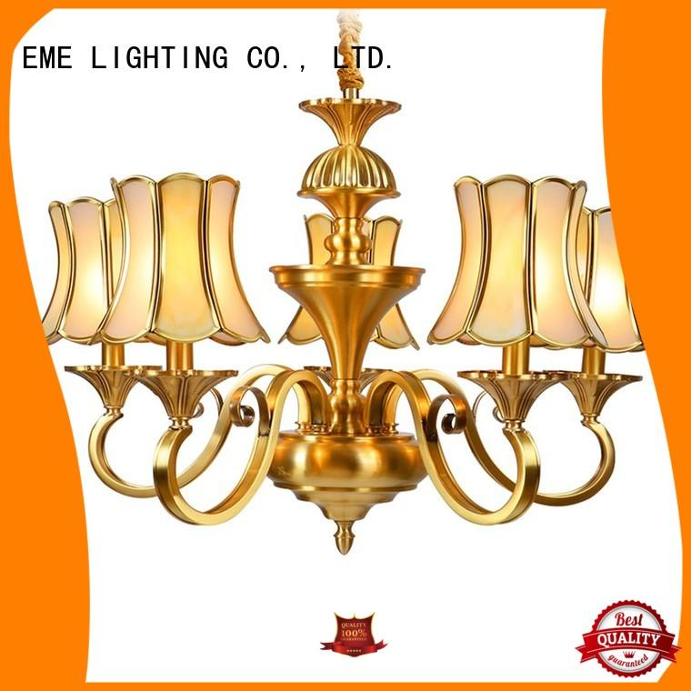 EME LIGHTING american style 10 light brass chandelier European for dining room
