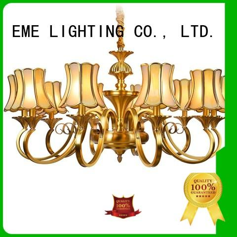 EME LIGHTING modern modern brass chandelier vintage for big lobby