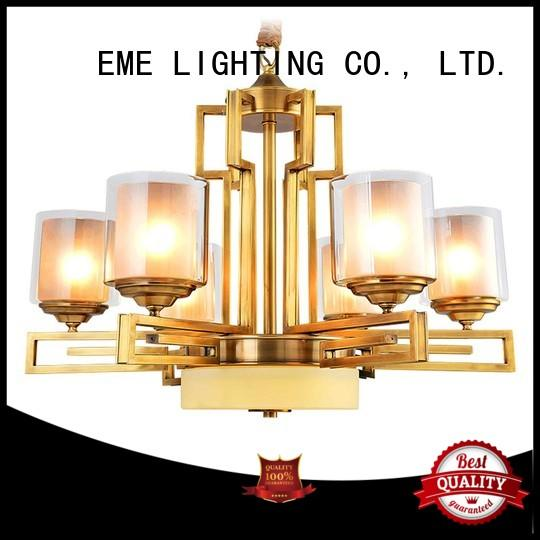 EME LIGHTING glass hanging chandelier over dining table vintage for dining room