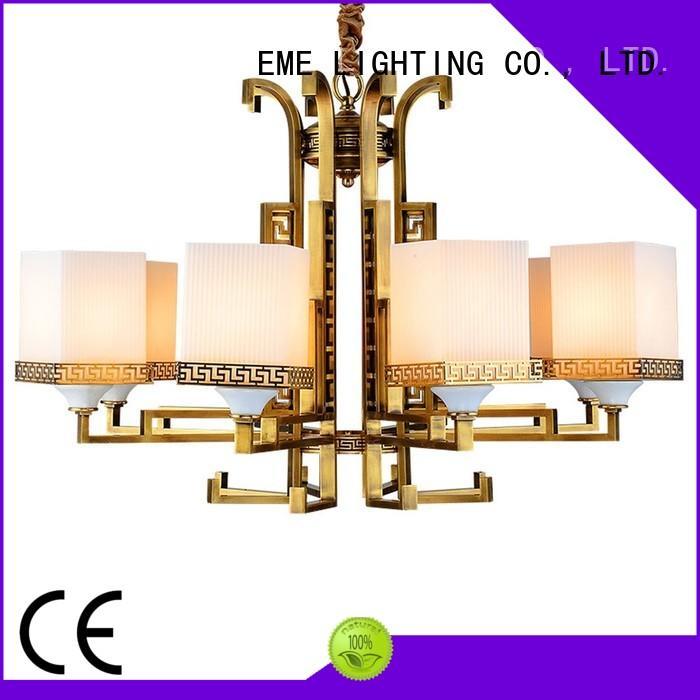 copper polished brass chandelier residential for dining room EME LIGHTING