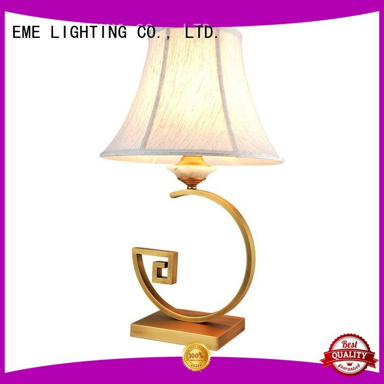 EME LIGHTING white oriental table lamps flower pattern for bedroom